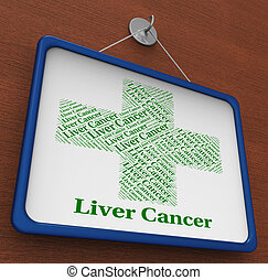 Liver Cancer Shows Poor Health And Affliction - Liver Cancer...
