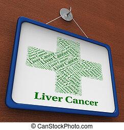Liver Cancer Shows Poor Health And Affliction - Liver Cancer...
