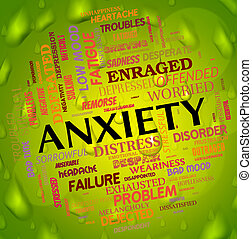 Anxiety Word Means Concern Words And Apprehension - Anxiety...