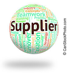 Supplier Word Means Trader Distribute And Retailer -...