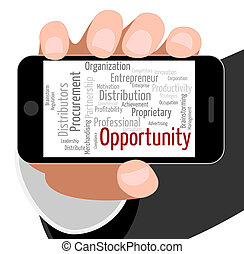 Opportunity Word Means Options Option And Wordclouds -...