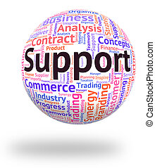 Support Word Means Text Assist And Assistance