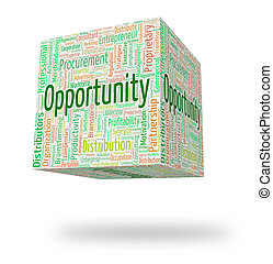 Opportunity Word Means Chances Wordcloud And Option -...