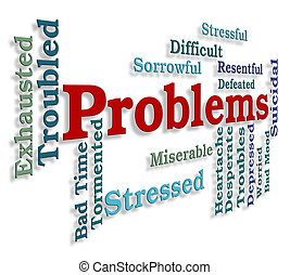 Problems Word Indicates Stumbling Block And Dilemma -...