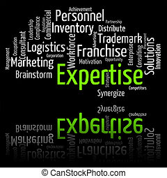 Expertise Word Shows Educated Proficiency And Wordclouds -...