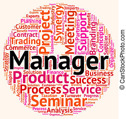 Manager Word Means Text Wordcloud And Principal - Manager...