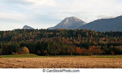 Autumn landscape - Austria, time lapse
