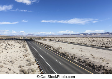 Interstate 15 Freeway in the Mojave Desert