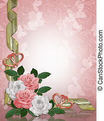 Wedding invitation Roses Border