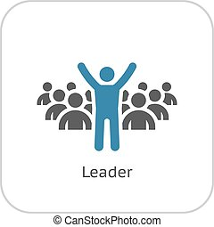 Leader Icon Business Concept Flat Design Isolated...