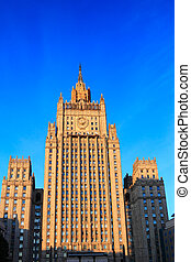 Ministry of Foreign Affairs building, Moscow, Russia -...