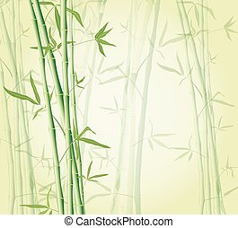 bamboo forest background EPS 10 illustration