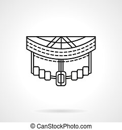 Longboard front abstract line vector icon - Extreme and city...