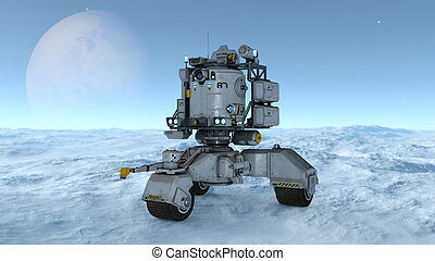Space rover - 3D illustration of a space rover.
