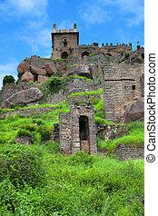 Golkonda - Historic Golkonda fort in Hyderabad, India