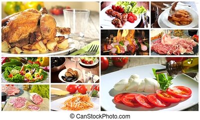 various delicious food