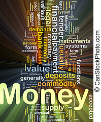 Money payment background concept glowing - Background...