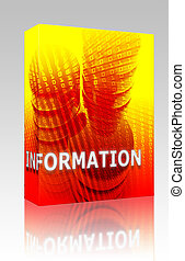 Information data storage box package - Software package box...