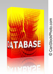 Database data storage box package - Software package box...