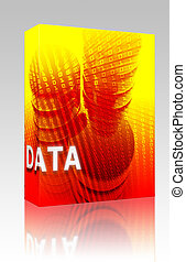 Data storage illustration box package - Software package box...