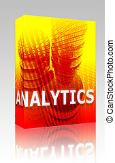 Data analytics illustration box package - Software package...