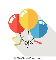 party balloon flat icon