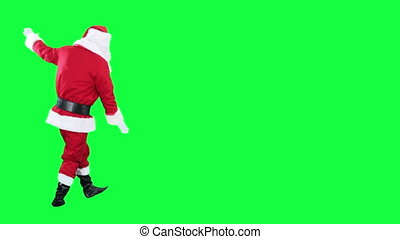 Reeling drunk Santa Claus - Santas dizzy isolated on green