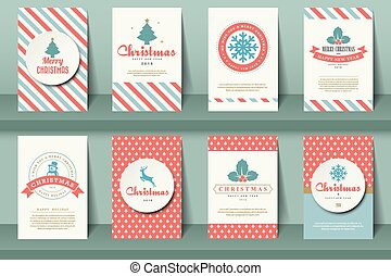 ww-81 - Set of nautical brochures in vintage style Vector...