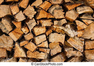woodpile for natural and rustic background