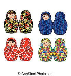 Russian dolls - matryoshka, set