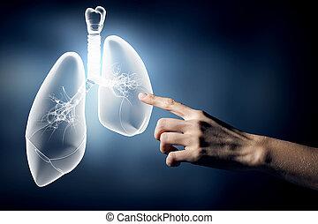 concepto, salud, Pulmones