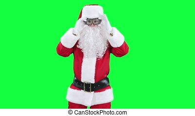 Santa Claus funny pilot chroma key