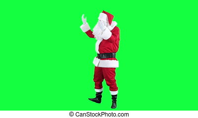 Santa Claus inspires someone - Santa turns to the audience...