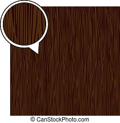 Wood texture background - dark brown. Vector stock.