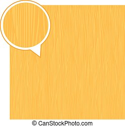 Wood texture background - light yellow. Vector stock.