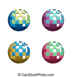 Four Abstract Spheres