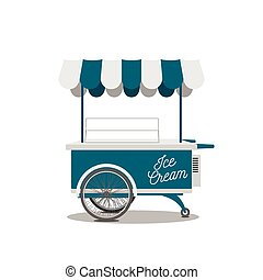Ice-Cream Shop on Wheels for your Design - Retro Ice-Cream...