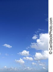 Blue sky white clouds in a summer clean day, nature