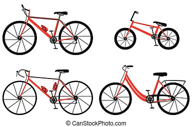 Four kinds of bicycles