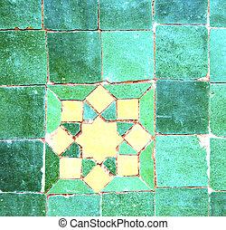 abstratos, Marrocos, em, África, azulejo, a,...