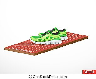 Symbol of a run shoes and athletic track - Symbol of a run...