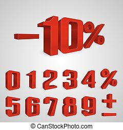 Interest rebate set red numbers