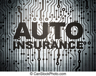 Insurance concept: circuit board with Auto Insurance -...