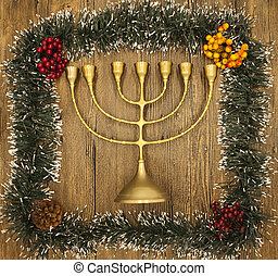 Hanukkah is the Jewish New Year Candle with Christmas...