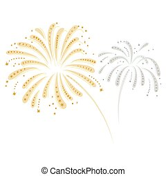 Silver and gold fireworks