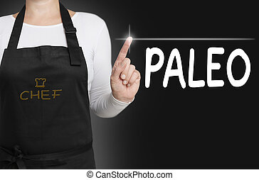 paleo background cook operated touchscreen concept.