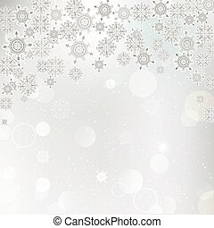 Vector illustration of a background snowflakes