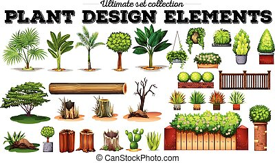 Many kind of plants illustration