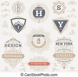 Labels, banners and design elements set Vector