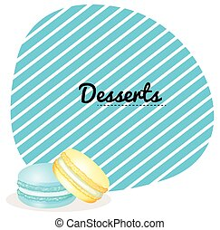 Border design with macaron illustration